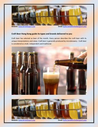 What are the brands and types of Craft Beer Hong Kong?
