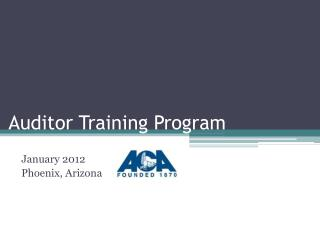 Auditor Training Program