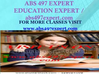 ABS 497 EXPERT EDUCATION EXPERT / abs497expert.com