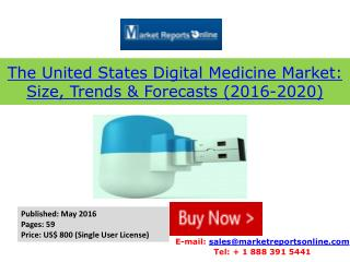 Worldwide & United States Digital Medicine Market 2020 Forecasts