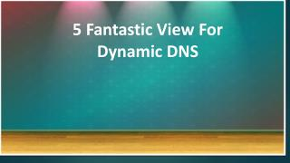 5 Fantastic View For Dynamic DNS