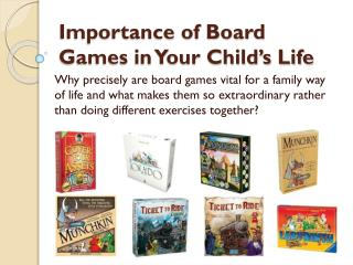 Importance of Board Games in Your Child's Life