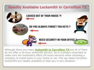Readily Available Locksmith in Carrollton TX