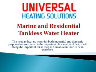 Marine and Residential Tankless Water Heater