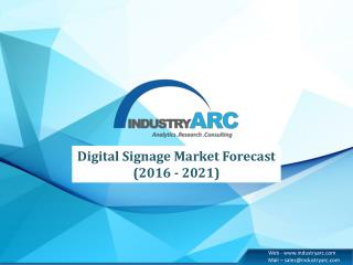 Future Opportunities in Digital Signage Market � Recent Study