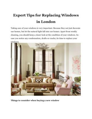 Expert Tips for Replacing Windows in London