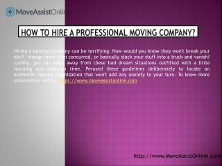 Things to Know Before Hiring a Moving Company