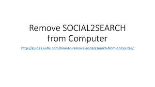 Remove SOCIAL2SEARCH from Computer