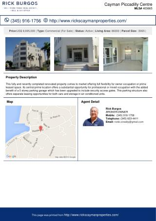 Cayman Piccadilly Centre Residential Property For Sale in George Town, Cayman Islands