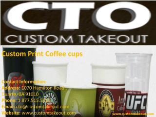 Custom Print Coffee cups in USA