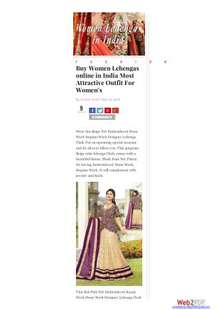 Buy Women Lehengas online in India Most Attractive Outfit For Women's