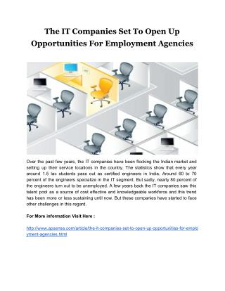 The IT Companies Set To Open Up Opportunities For Employment Agencies