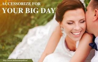 The big day – the wedding day!