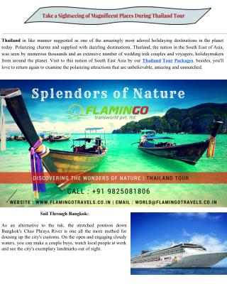 Take a Sightseeing of Magnificent Places During Thailand Tour