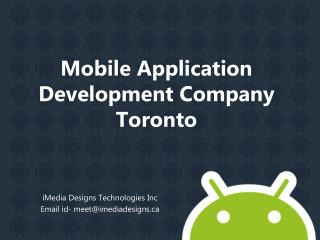 Mobile Application Development Company Toronto