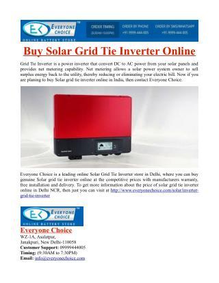 Buy Solar Grid Tie Inverter Online