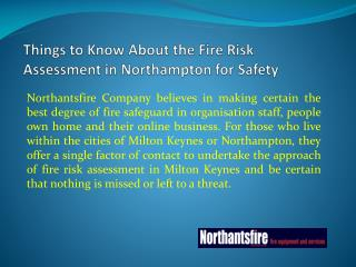 Things to Know About the Fire Risk Assessment in Northampton for Safety
