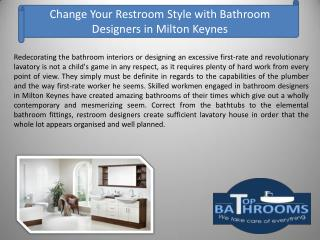 Change Your Restroom Style with Bathroom Designers in Milton Keynes