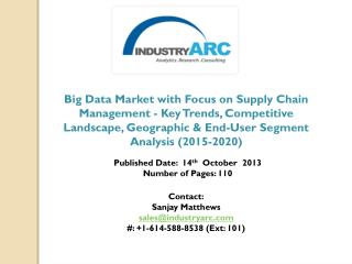 Big Data Market witnessing changing dynamics for the current business on a global scale.