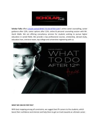 Scholar Talks - What to do After 12th & Online Career Guidance