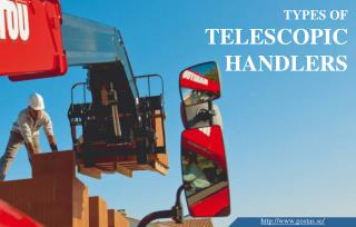 Three Commonly Used Kinds Of Telescopic Handlers