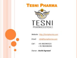Best PCD Pharma Companies in Gujarat - Tesni Pharma