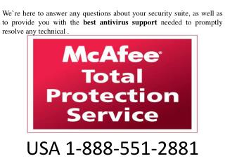 Mcafee support phone number | 1.888.551.2881