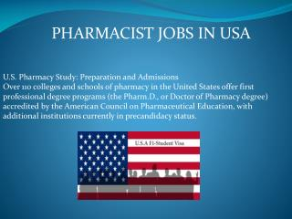 Pharmacists Jobs in USA