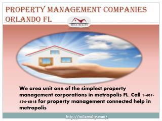 Property Management Companies Orlando FL