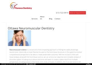 Ottawa Neuromuscular Dentistry Services