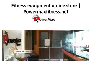 Fitness equipment online store
