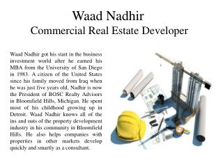 Waad Nadhir-Commercial Real Estate Developer