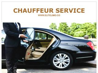 Get Finest Chauffeur Service At Elite Limo