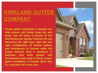 Kirkland Gutter Company