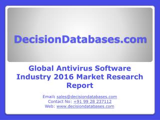Global Antivirus Software Industry- Size, Share and Market Forecasts 2021