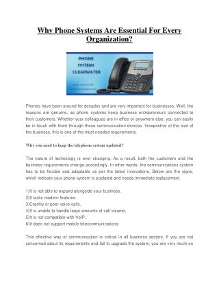 Phone System Clearwater