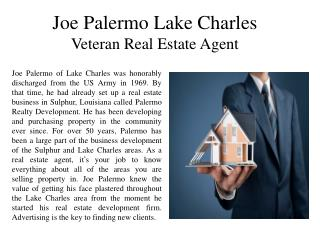 Joe Palermo Lake Charles-Veteran Real Estate Agent