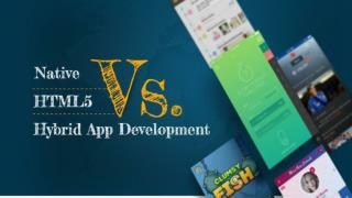 Native or HTML5 Or Hybrid App Development?