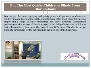 Buy The Most Quirky Children's Blinds From Gloriumtious