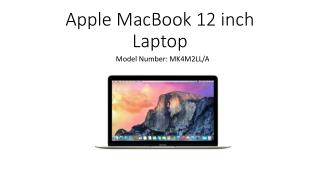 Apple 12 inch MacBook with Retina Display