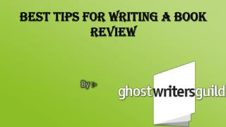 Best Tips for Writing a Book Review