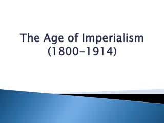 Mayer - World History - Age of Imperialism