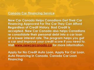 Canada Car Financing Service