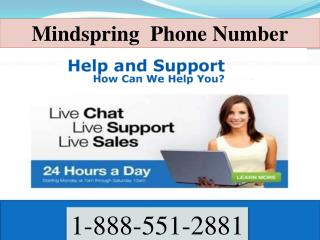 Mindspring support phone number | 1.888.551.2881