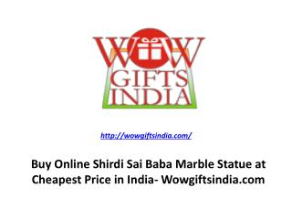 Buy Online Shirdi Sai Baba Marble Statue at Cheapest Price in India- Wowgiftsindia.com