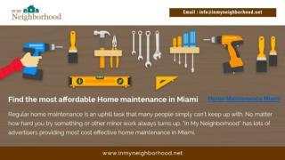 Home Maintenance Miami