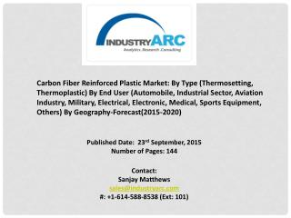 Carbon Fiber Reinforced Plastic Market emerging market with considerable growth and will replace traditional materials.