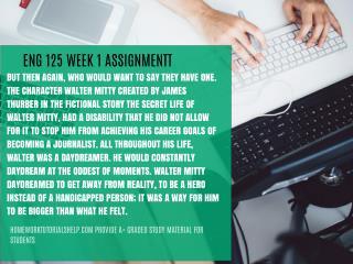ENG 125 WEEK 1 ASSIGNMENT