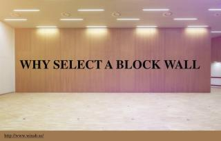 Why should organizations install block walls