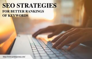 Effective SEO strategies to improve keyword ranking
